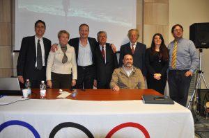 Hall of Honour of CONI Ligure - Speakers Conference: E. Guglielmelli, A. Cimaglia, S. Cimmino, A. Spataro, M. Bornia, F. Tassara, M. Di NIcola, M. Corti