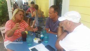 Key West, 11 luglio 2015 -Salvatore Cimmino con Vanessa Linsley e Piero Salussolia