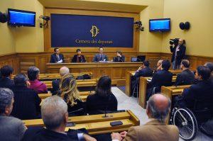 January 14, 2016 - Rome, Chamber of Deputies - Salvatore Cimmino between Eugenio Guglielmelli Maria Chiara Carrozza and Laura Coccia