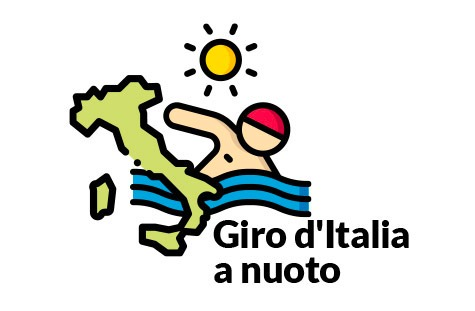 Giro d'Italia swimming, a dreamer's challenge for a solidarity society.